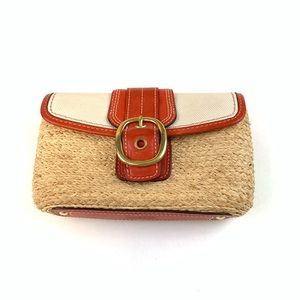 Coach Bags - Coach Womens Clutch Wicker Red/Orange-Like Color